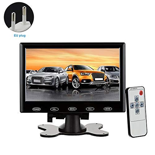 TXYFYP Monitor portátil, cámara de Respaldo inalámbrica Digital con señal Estable, Monitor HD 1024x600 de 7 '' y Kit de cámara de visión Trasera para automóviles, camionetas, Camiones, campistas