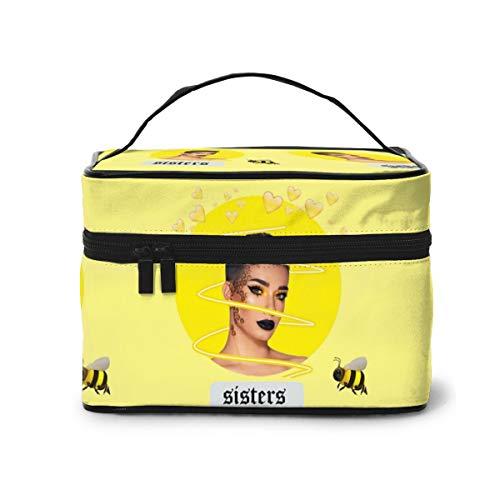 Jam-es Ch-arles Bolsas de cosméticos de viaje organizadoras bolsas de aseo portátil para maquillaje