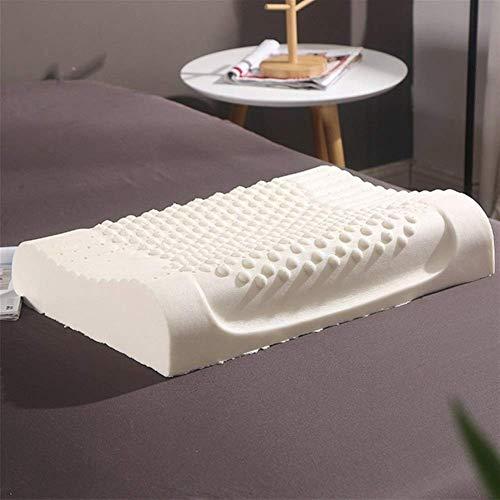 La almohada con memoria para el cuello alivia la f Tailandia pura pura látex látex natural látex lento almohada almohada cervical vértebras cuidado de la salud masaje ortopedic memoria espuma almohada