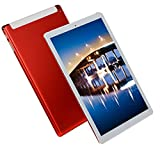FJYDM Tableta De 10.1 Pulgadas, Octa Core 32GB ROM Tableta De 2GB RAM, Ranuras para Tarjetas SIM Dobles, Pantalla De Vidrio De Alta Definición 1920 * 1200, Tableta con Carcasa De Metal,Rojo