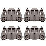 4 Packs Dishwasher Wheels W10195417 UPGRADED Lower Rack For kenmore whirlpool kitchen aid,Dishwasher Wheels Replaces Dish Rack Part Number AP4538395, PS2579553,WPW10195417, AH2579553, EA2579553
