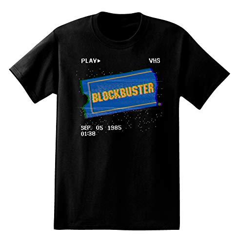 Blockbuster Mens Video Store Shirt Video Vintage Tee (Black, Medium)