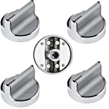 W10594481 Stainless Steel Cooker Stove Control knob (5PCS),Compatible Whirlpool Gas Cooktop Range /Oven,Replaces# WPW10594481 B01KR8F5EU 3281332 AP6023301 EAP10594481