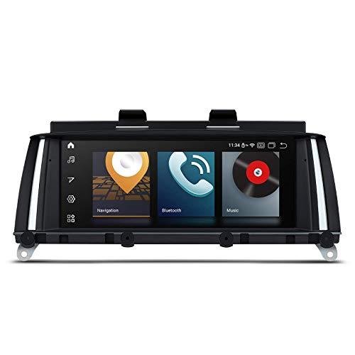8.8 Estéreo para automóvil Android 10 Qualcomm Bluetooth Navegación GPS 8-Core 4GB RAM 64GB ROM Unidad principal de pantalla IPS Admite AutoPlay WiFi DVR TPMS para BMW X3 X4 2014-2016 Sistema NBT