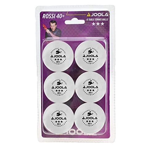 JOOLA Tischtennis-Bälle Rossi 3-Stern 40 weiss 6er Blister