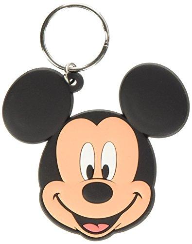 Disney RK38322C Micky Maus Schlüsselanhänger aus Gummi, Mehrfarbig, 4.5 x 6 cm