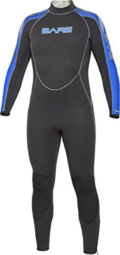 Bare 5mm Velocity Full Suit Men's Wetsuit Blue,...
