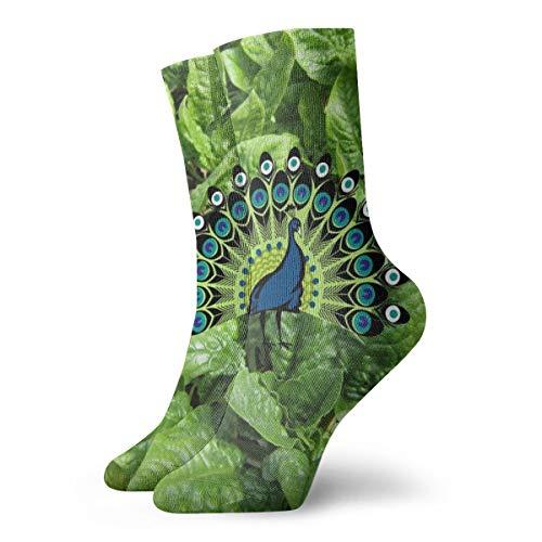 BJAMAJ Unisex Sokken Kale & Spinazie Planten Interessant Polyester Crew Sokken Volwassene Sokken Katoen