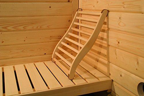 Karibu ergonomische Rückenlehne für Sauna