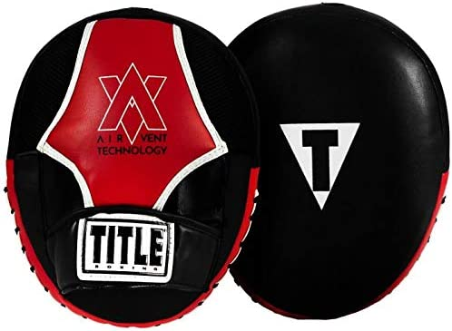 Title Boxing Air Vent Technology Punch セール品 Mitts Red Black 大好評です