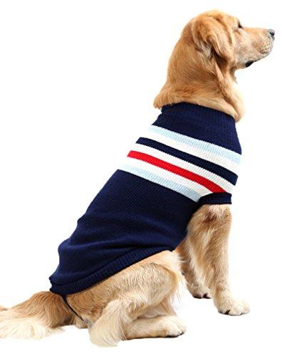 PassMe Vestiti Cane Maglione Maglia Per Cani Grandi Maglieria Caldo Invernale Dolcevita Cappotto Animale Domestico Costume Natale