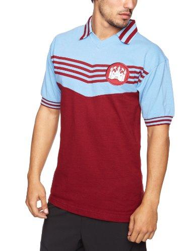 West Ham United 1976Herren Retro Football Shirt Größe L Claret/Sky