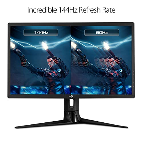 "ASUS ROG Strix 27"" 4K HDR 144Hz DSC Gaming Monitor (XG27UQR) - UHD (3840 x 2160), IPS, 1ms, Extreme Low Motion Blur, DisplayHDR 400, DCI-P3 90%, G-SYNC Compatible, Eye Care, DisplayPort, HDMI, USB 3.0"