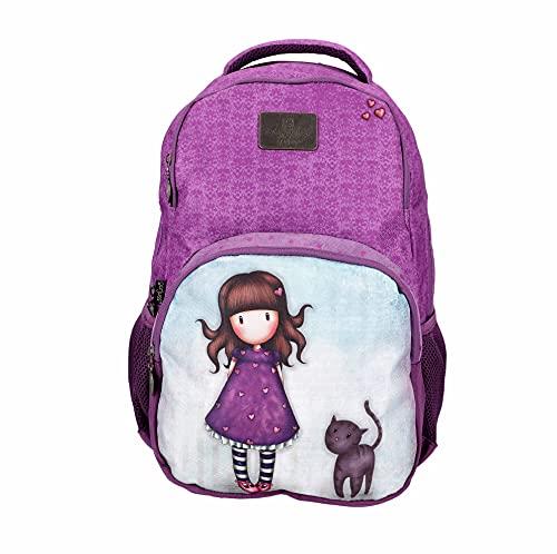 "SANTORO Gorjuss Schulrucksack/Backpack mit 15,6"" Laptopfach Purrrrrfect Pals, 46cm, 25l, 21gjs105a-pur Purrrrfect Mochila Escolar (46 cm, 25 L), 46 x 32 x 16 para Niñas"