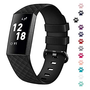 I-SMILE Replacement Bands Compatible with Fitbit Charge 3 Charge 3 SE Classic & Special Edition Adjustable Sport Wristbands