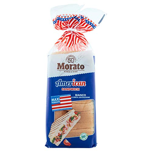 Morato American Pane Bianco Sandwich - Grande Formato, 825g