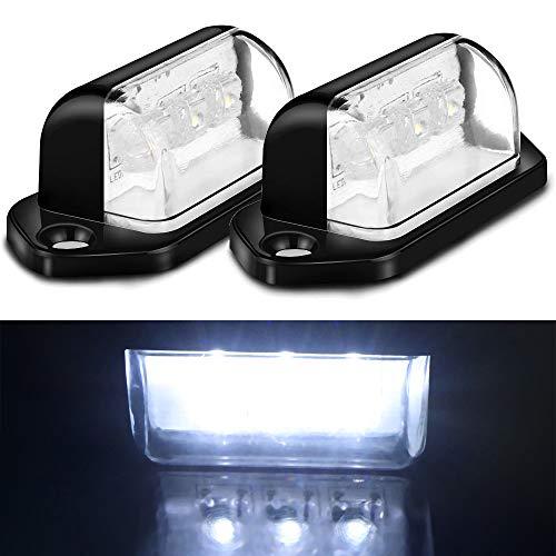 OurLeeme 2 Stück 3-LED Kennzeichenbeleuchtung Rücklicht für LKW Anhänger LKW 12 V