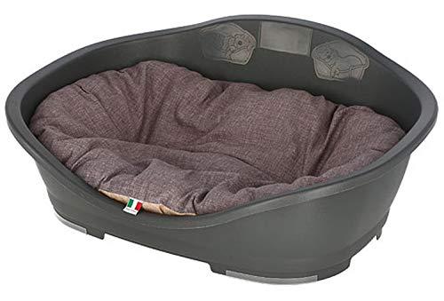 Cajou Kunststoffbett mit passendem Hundekissen (Wendekissen) waschbar (80,5 x 49 x 32 cm)