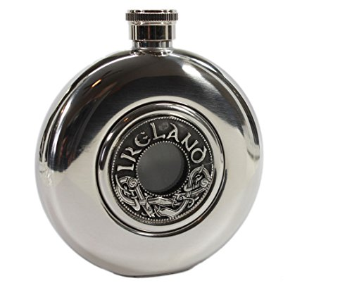 Irish Whiskey Flask Stainless Steel Flask 5 Fl. Oz. Irish