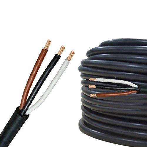 AUPROTEC 10m Rundkabel 3 adriges Elektrokabel Anhängerkabel 3 x 0,75 mm²
