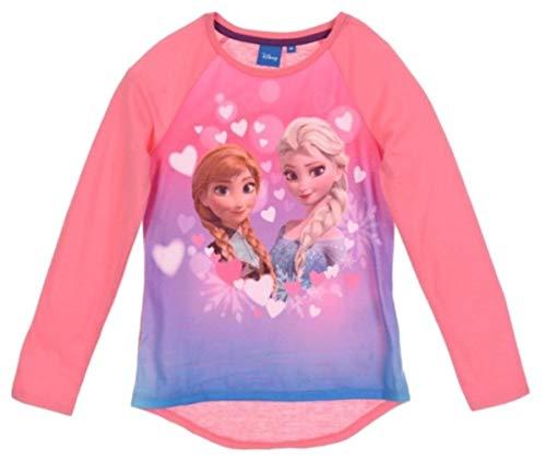 Frozen Langarmshirt Mädchen Elsa und Anna (Darkrosa, 98-104)