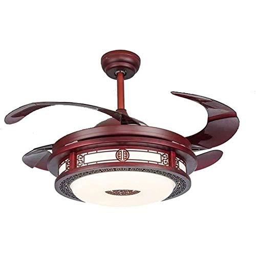 HEMFV Luz del Ventilador de Techo 42 Pulgadas Ventilador de Techo con el Kit de iluminación Integrado y Control Remoto, Antiguo Sala de Estar Ventilador de la lámpara