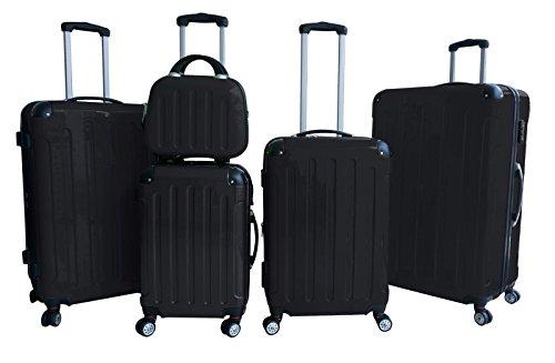 Kofferset 5-teilig Hartschale (schwarz)
