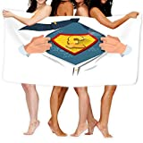 Toalla de Playa Moneyman Apertura para Mostrar el Icono de Libra esterlina Estilo cómico Concepto de Dinero Moneyman Apertura para Mostrar el Icono de Libra esterlina
