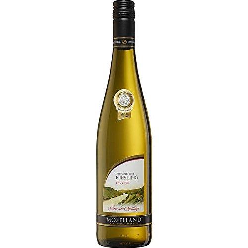 6 Flaschen Moselland Riesling, QbA, trocken Weißwein a 750ml