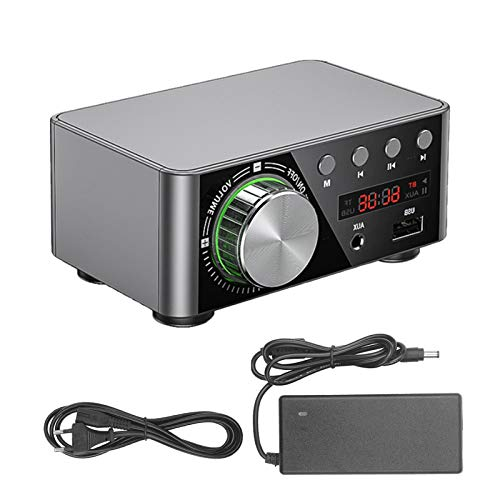 KKmoon Mini Amplificador Audio BT HiFi Audio Estéreo Amplificador para Altavoces de Casa
