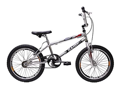Bicicleta Aro 20 Bmx Cross Freestyle Cromada Aero Saidx (Preto)