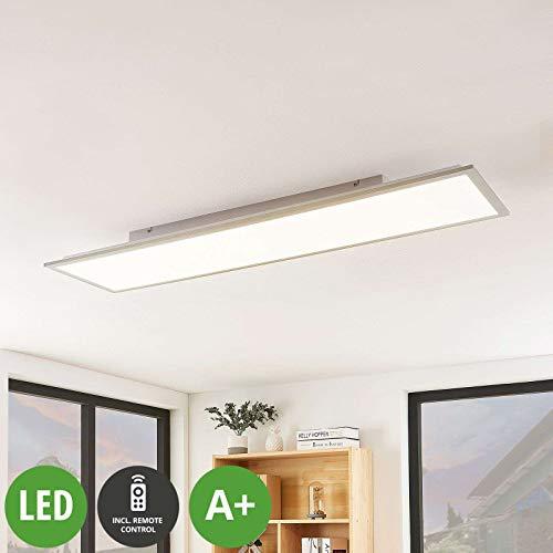 Lindby LED Panel 'Stenley' mit Fernbedienung (Modern) in Alu u.a. für Küche (1 flammig, A+, inkl. Leuchtmittel) - Bürolampe, Deckenlampe, Deckenleuchte, Lampe, Küchenleuchte