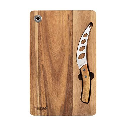 ✔COLTELLO DA FORMAGGIO MULTIUSO: Questo coltello è realizzato con un'affilatura unica e un design che consente l'affilatezza durevole. Le lame spiegate riducono la frizione e mantiene non deformato il cibo nel percorso di taglio. Il prodotto è partic...