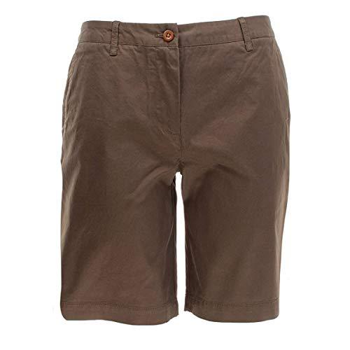 GANT Damen Shorts Sunfaded Chino, Größe:38, Farbe:Olive(372 Dark Leaf)