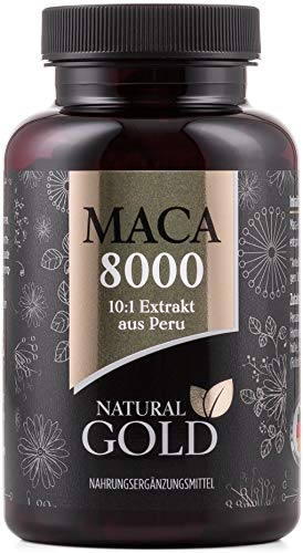 Original Maca Extrakt aus Peru - Maca 8000 - hochdosiert, vegan und ohne Magnesiumstearat - 10:1 Extrakt - 180 Maca Kapseln