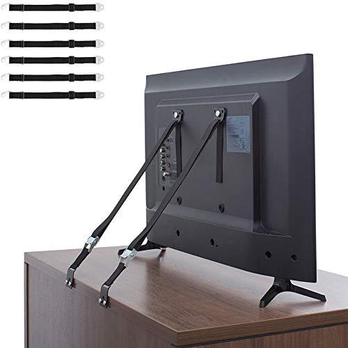 6PCS Kippschutz Set für Möbel Kippsicherung/Kindersicherung, Verstellbare Möbel Wandanker Befestigung Sicherungsgurt für Baby Proofing, Haustierschutz, TV, Bücherregal, Schränke