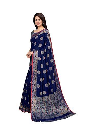 Amazon Brand - Anarva Women's Kanchipuram Silk Blend Saree With blouse piece