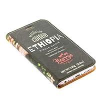 iphone ケース 手帳型 コーヒー豆 レザーケース スマホケース iphoneケース (iPhone XS Max用, エチオピアシングルオリジン)