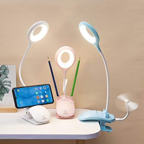 Clip LED kleine Tischlampe Leselampe, Nachttischlampe, Stifthalter, Handyhalter, tragbare Leselampe