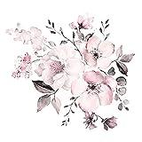 YGYT 30X90Cm Agua Color Rosa Flores Pared Dormitorio Sala de Estar Decoración Mural Decoración para el hogar Calcomanías Flor Cluster Wallpaper