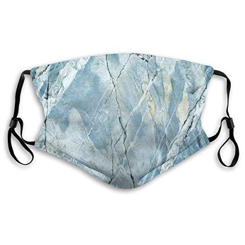 Cheyan Masque coupe-vent confortable avec architecture en granit granit pour sol artistique nature délavée Motif rocher imprimé Décorations faciales pour unisexe