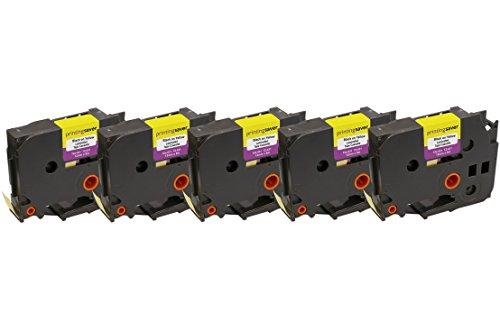 5x TZe631 TZe 631 Schwarz auf Gelb 12mm x 8m Schriftband-Kassetten kompatibel für Brother P-Touch PT-1000 1005 1010 3600 9600 D210 D210VP D400 D450VP D600VP E100 H101C H101GB H105 H110 H300 P700 P750W