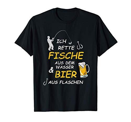 Fischergeschenk, Bier, Bierkrug, Lustiges Angler Geschenk T-Shirt