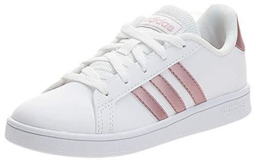 adidas Grand Court K Sneaker, Ftwwht Coppmt Glopnk, 38 EU