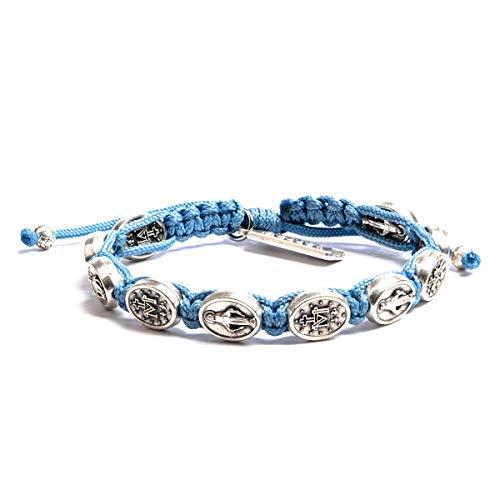 My Saint My Hero Miraculous Mary Bracelet - Light Blue/Silver