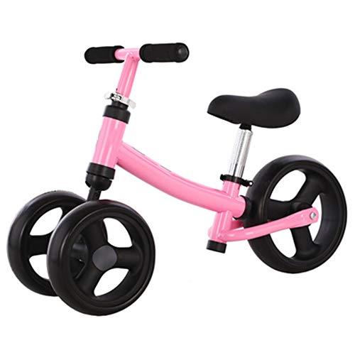 Yumeigge 2 in 1 dubbele fietsen, wielen voor kinderen, frame van koolstofstaal, driewieler voor kinderen kan 6 cm zitten. roze