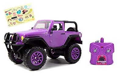 Jada Toys GIRLMAZING Big Foot Jeep R/C Vehicle (1:16 Scale), Purple by Jada Toys - US