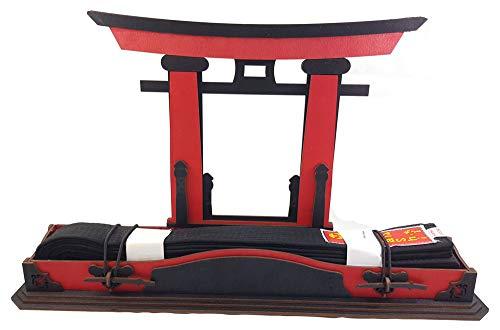 Tanno Design Budo Torii Gürtelbox Black Belt - Holz- ohne Gürtel rot/schwarz