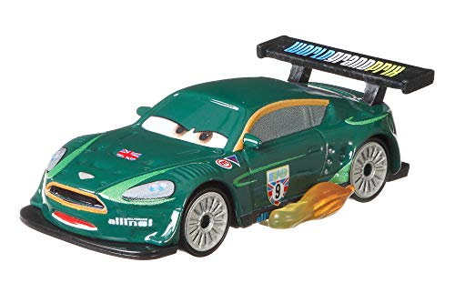 Disney Pixar Cars Nigel Gearsley with Flames Die-cast Character Vehicles, Miniature, Collectible Racecar Automobile Toys Based on Cars Movies, for Kids Age 3 and Older