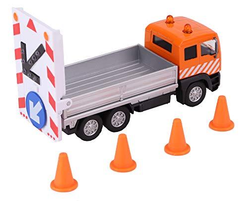 Van Manen Kids Globe Traffic Die Cast LKW (pull back, Signboard Truck mit Zubehör, 14 cm) - 510776